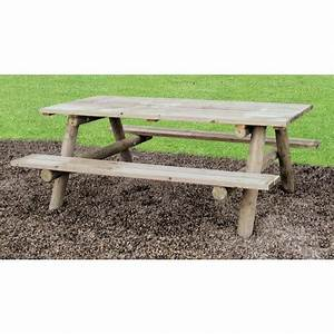 Table Bois Pique Nique : table de jardin en bois pour pique nique table de pique nique en bois autoclave ~ Melissatoandfro.com Idées de Décoration
