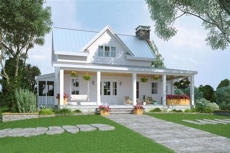 Plan 92385MX: Exclusive Modern Farmhouse Plan with Partial