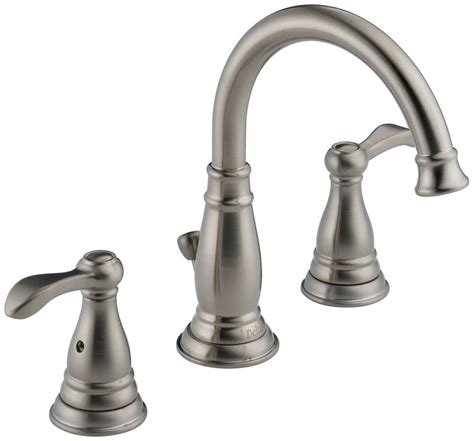 delta lorain faucet brushed nickel houseofaura bathroom faucet delta shop delta