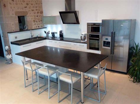 table de cuisine moderne idee de modele de cuisine