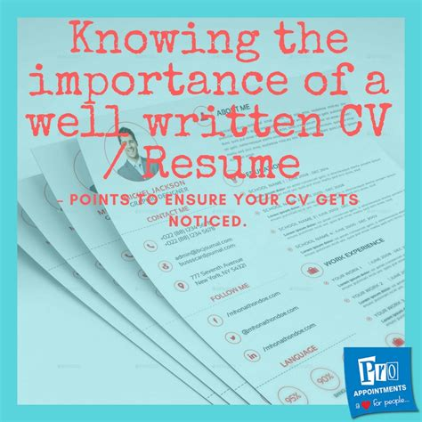 knowing the importance of a well written cv resume