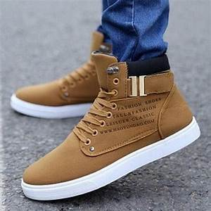 2017 Hot Fashion Mens Shoes Leather Shoes Casual High Top ...