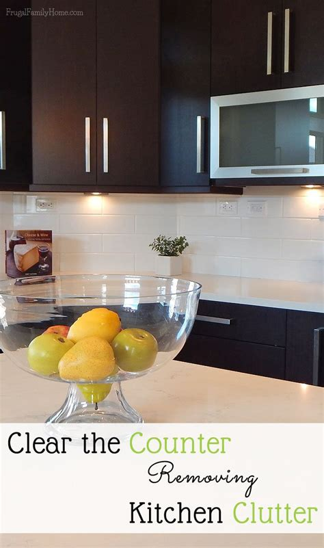 unclutter your life clearing the kitchen counter of clear the counter removing kitchen clutter money home