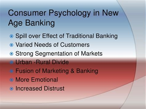Consumer Psychology And Banking