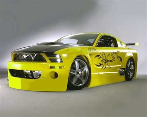 mustang modified yellow mustang modified ford mustang modification