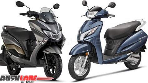 Honda Suzuki by 2018 Suzuki Burgman Vs Honda Activa Compared On Price