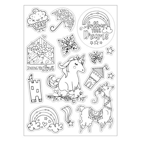 sizzix follow  dreams coloring stickers