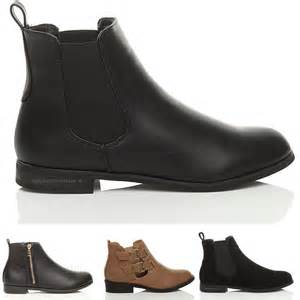 s flat boots sale uk womens low heel pull on gusset stretch ankle boots size 7 40 ebay