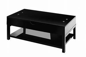 Table Basse Noire Design : table basse noire avec plateau relevable table basse pas cher ~ Teatrodelosmanantiales.com Idées de Décoration