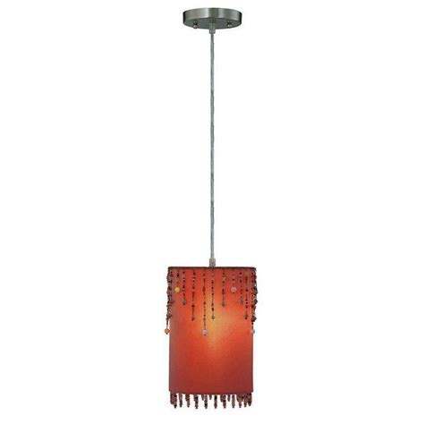 illumine designer collection 1 light orange pendant with