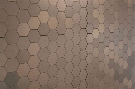 salerno mosaic tile peel stick metal series bronze