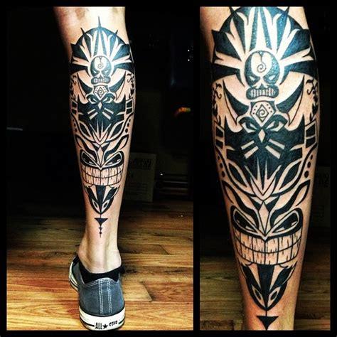 tribal black leg ink  tattoo design ideas