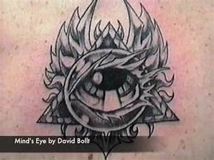 Sacred Third Eye Winged Tattoo Design with Pyramid - Mind ...