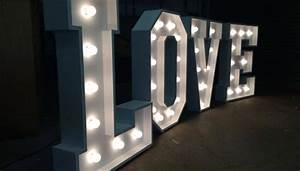 giant led love letters hire With floor standing light up letters