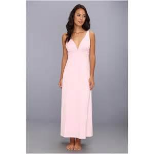 natori women s bliss pima cotton sleeveless nightgown