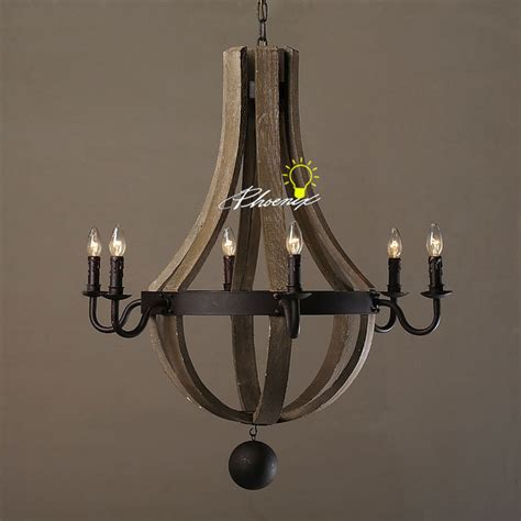 anitque wood and iron chandelier contemporary