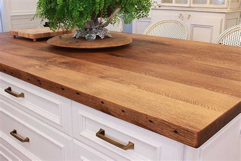 white kitchen island reclaimed wood countertops j aaron