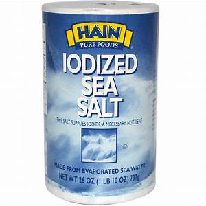 Hain Pure Foods, Iodized Sea Salt, 26 oz (737 g) - iHerb.com