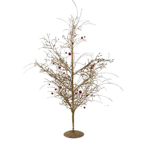 gold glitzy table top twig tree 60cm christmas time uk