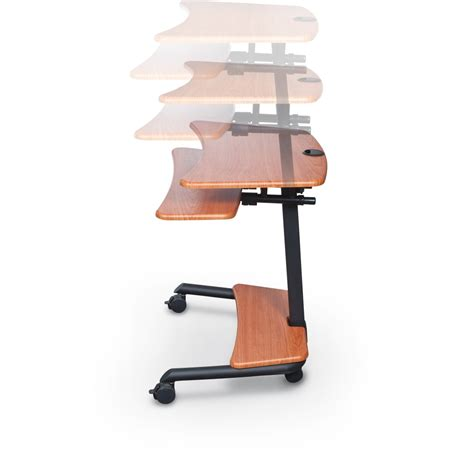 adjustable sit stand desk up rite workstation mobile adjustable sit and stand desk