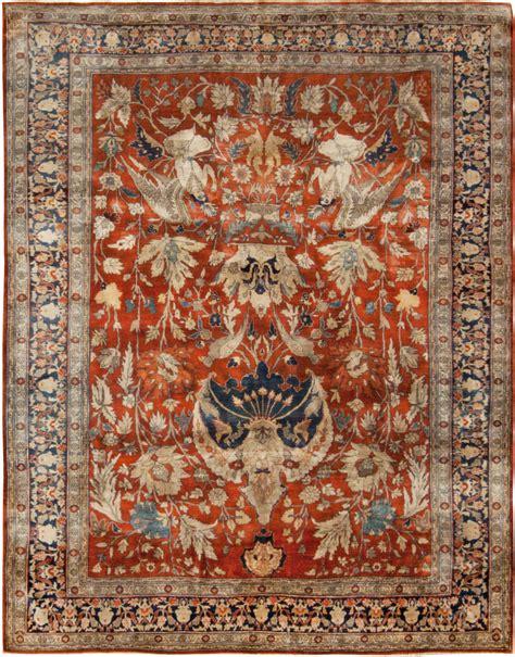 Silk Rugs by Antique Tabriz Silk Rug Bb6781 By Doris Leslie Blau