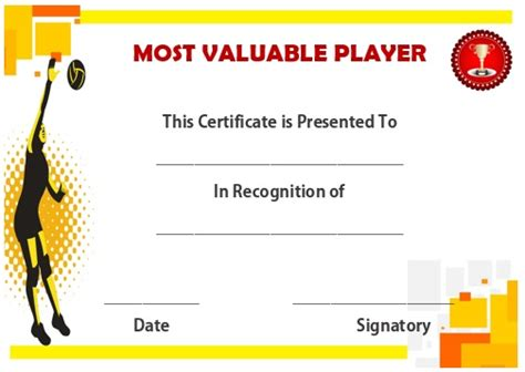 25 Volleyball Certificate Templates