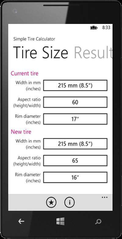 simple tire size comparison chart militarybraliciousco