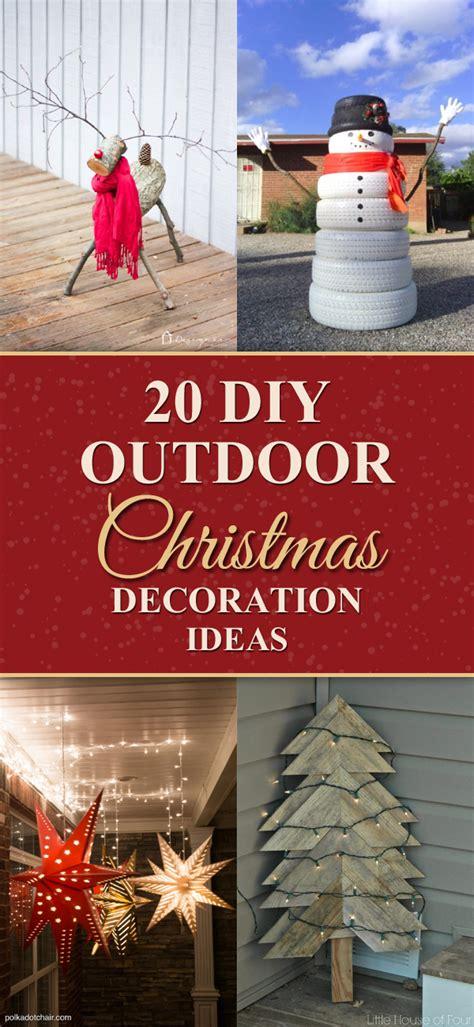 creative diy outdoor christmas decoration ideas