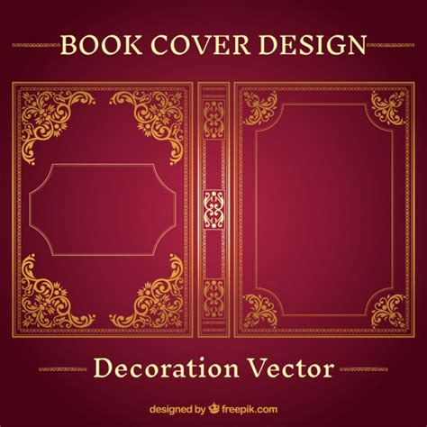 book cover design ornamental book cover design vector free