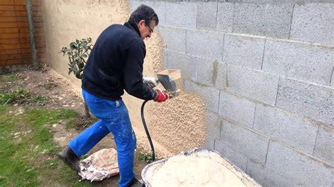 enduire au sablon avec compresseur de chantier thermique