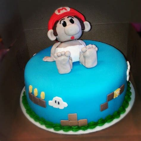 Baby Mario Cake For Super Mario Themed Shower Baby