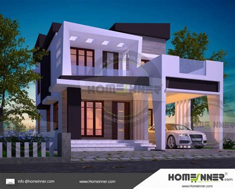1690 sq ft 3 bedroom house design for middle class family