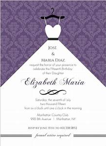 purple damask and white dress quinceanera invitation With cheap wedding invitations in spanish