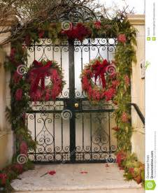 Gate Christma Decoration Stock Photo Image 7552470 Decorating Front Porch