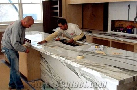 granite countertops installation calacatta borghini marble kitchen countertop installation