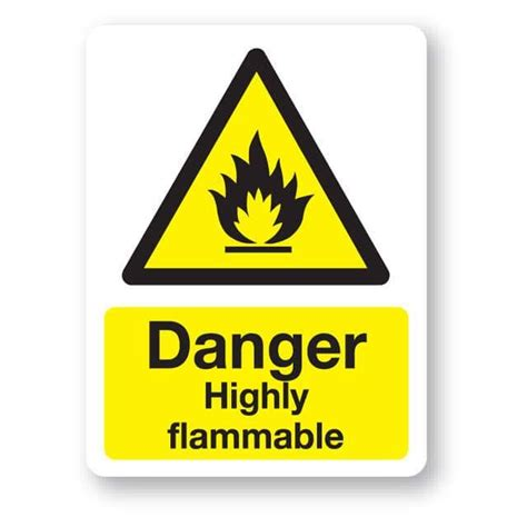 danger highly flammable sign xmm