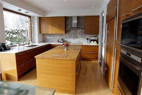 cuisine en teck du teck dans la cuisine léger design