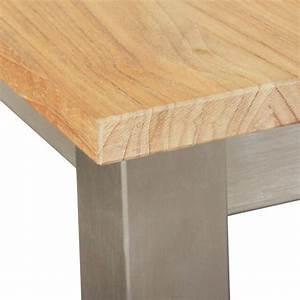 Gartentisch Holz Massiv : gartentisch teak edelstahl geb rstet holz tischplatte massiv rostfrei gestell ebay ~ Indierocktalk.com Haus und Dekorationen