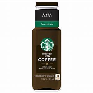 Starbucks Black Iced Coffee Unsweetened 11 Oz Glass ...