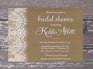 burlap lace bridal shower invitation printable diy lace With free printable burlap wedding invitations