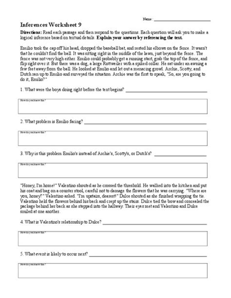 4th grade inference worksheet worksheets for all