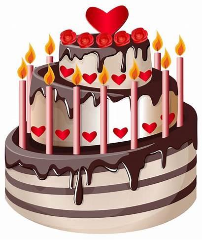 Cake Birthday Clip Clipart Happy Transparent Bolo