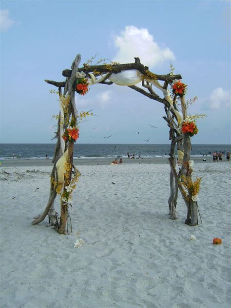 wedding arch    driftwood wedding decorations