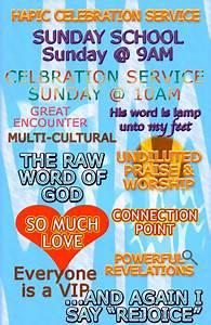 Celebration Service (Sunday School @ 9AM – Worship ...