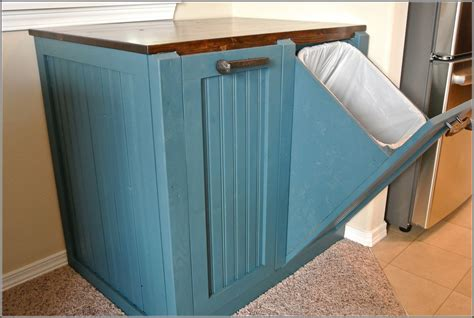 double trash cabinet home ideas