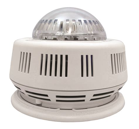 smoke detector red light solid hardwired photoelectric smoke alarm with smart strobe
