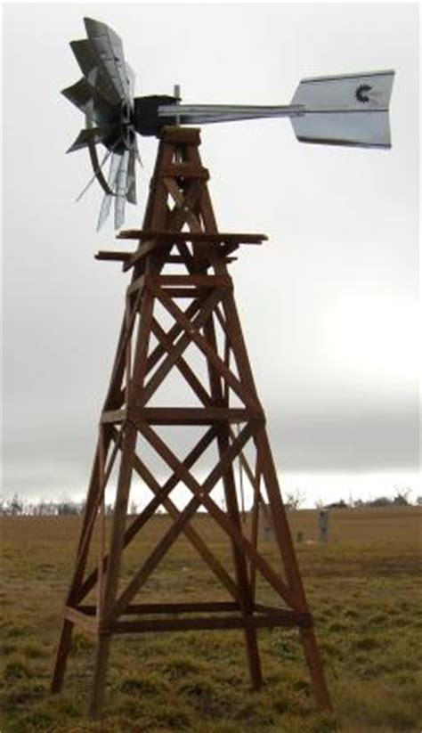 functional aeration wood windmill