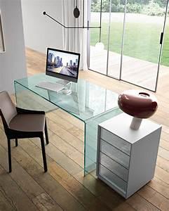 Schreibtisch Aus Glas : der schreibtisch aus gebogenem glas rialto fiam italia ~ Markanthonyermac.com Haus und Dekorationen