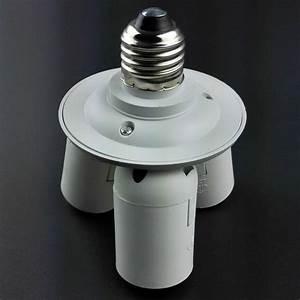 Us 3  4 In 1 E27 Base Light Lamp Bulb Adapter Holder Socket