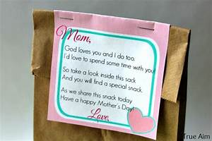Free Mother's Day Snack Tag Printable | True Aim